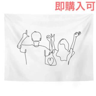 即完売品再入荷★韓国インテリア 布ポスター 線画ポスター 【LOVE】(その他)