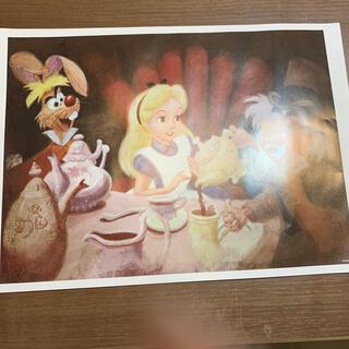 ディズニー(Disney)の非売品 ディズニー 不思議の国のアリスのポスター アートコレクション(絵画/タペストリー)