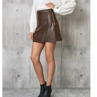 アナップ(ANAP)のANAP レザースカート(ミニスカート)