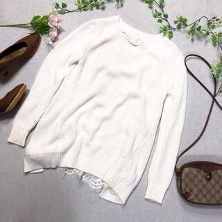 Liala × PG リアラピージー ニット レース S ホワイト (ニット/セーター)