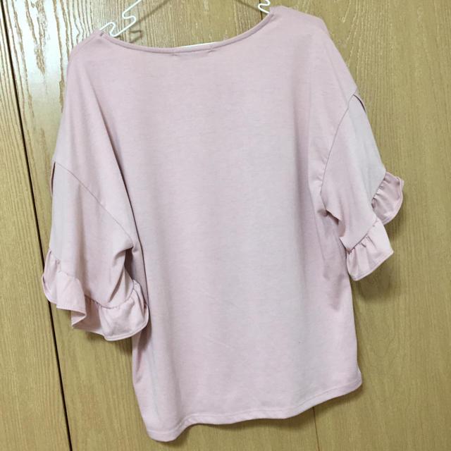 RETRO GIRL(レトロガール)のレトロガール ピンクフリルトップス レディースのトップス(Tシャツ(半袖/袖なし))の商品写真