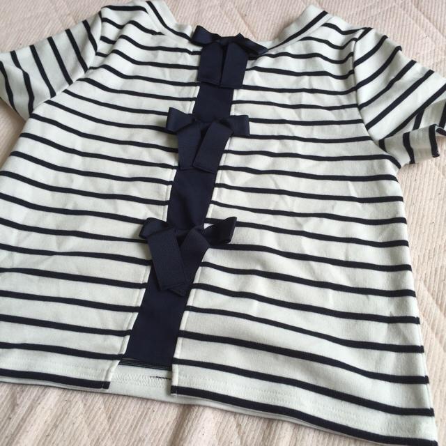 mysty woman(ミスティウーマン)のミスティウーマン バックリボンTシャツ♡ レディースのトップス(Tシャツ(半袖/袖なし))の商品写真