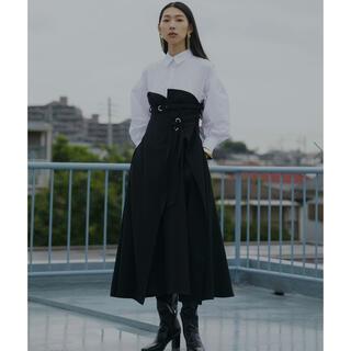 アメリヴィンテージ(Ameri VINTAGE)のMILLEFEUILLE SHIRT DRESS AMERI(ロングワンピース/マキシワンピース)
