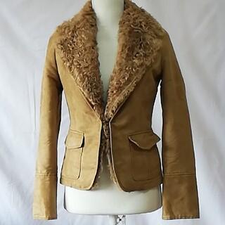 ボッシュ(BOSCH)の美品ボッシュ、スエード調、襟がモコモコしたジャケット、サイズS。BOSCH(テーラードジャケット)