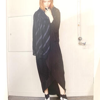 ゴム(gomme)のgomme ゴム 2020秋冬 スカート 黒 レース アシンメトリー(ロングスカート)