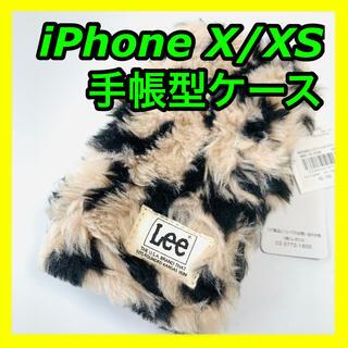 リー(Lee)のLee リー スマホケース iPhone X XS モコモコ 手帳型(iPhoneケース)