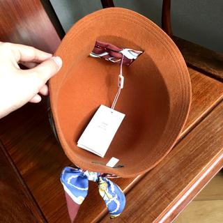 アパルトモンドゥーズィエムクラス(L'Appartement DEUXIEME CLASSE)のEMA...OH エマオー ウールハット シルク100%スカーフ 未使用(ハット)