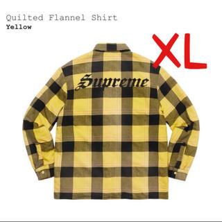 シュプリーム(Supreme)のsupreme  Quilted Flannel Shirt 黄色 XL(シャツ)