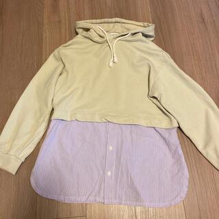 チャオパニックティピー(CIAOPANIC TYPY)の着用4.5回 レイヤード風パーカー(Tシャツ/カットソー)