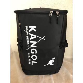 カンゴール(KANGOL)のKANGOLスクエア型リュック250-1271黒/白ロゴ¥8800→5800(バッグパック/リュック)