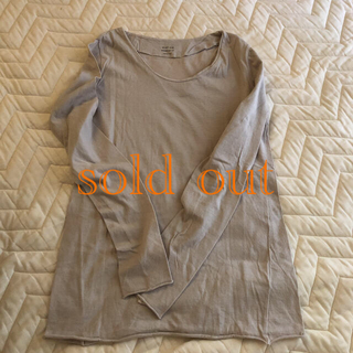 エヴァムエヴァ(evam eva)のevam eva/ cotton cut&sew pullover(カットソー(長袖/七分))