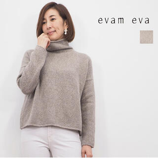 エヴァムエヴァ(evam eva)のevam eva/ cashmere sable tweed turtle (ニット/セーター)