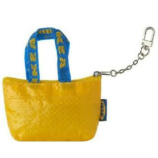 イケア(IKEA)の新品♥️スピード発送 IKEAのエコバッグミニサイズ 黄色1個🌼キーホルダー付(小物入れ)