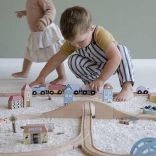 ボーネルンド(BorneLund)の 新品 ✴︎ Little Dutch リトルダッチ トレインXXLセット 木製(電車のおもちゃ/車)