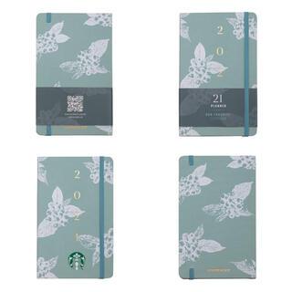 スターバックスコーヒー(Starbucks Coffee)の台湾 スターバックス 2021年 手帳 スケジュール ミントグリーン開封済未使用(カレンダー/スケジュール)