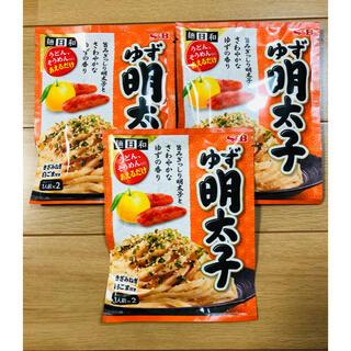 ゆず明太子ソース うどんのタレ 3袋(インスタント食品)