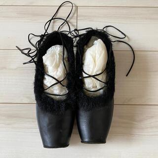 ジェーンマープル(JaneMarple)のJane marple ファーバレリーナシューズ 靴 ジェーンマープル(バレエシューズ)