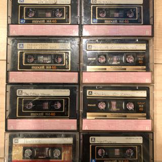 マクセル(maxell)のmaxell ハイポジ カセットテープ 46分 中古 8個(その他)