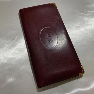 カルティエ(Cartier)のカルティエ お札入れ マストライン ボルドー 【格安】(長財布)