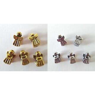 キワセイサクジョ(貴和製作所)のスペーサー チャーム 天使 10個セットアンティークシルバーゴールドエンジェル(チャーム)