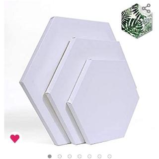 張りキャンバス 油絵キャンバス 六角形 12枚(ボードキャンバス)