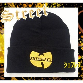 Wu-Tang Clan ウータン クラン ニットキャップ ブラック×イエロー(ニット帽/ビーニー)