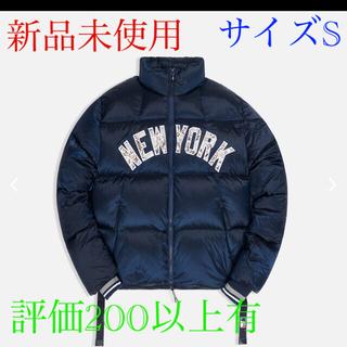 ナイキ(NIKE)のkith mlb ny midi puffer jacket  navy S(ダウンジャケット)