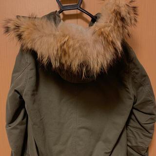 エディション(Edition)のコート/ネイビー/長め/暖かい/ファーとウードベストは取り外し可能(ロングコート)