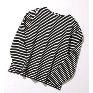 アダムエロぺ(Adam et Rope')のアダムエロペ  ボーダーポンチオーバーサイズ長袖Tシャツ(Tシャツ/カットソー(七分/長袖))