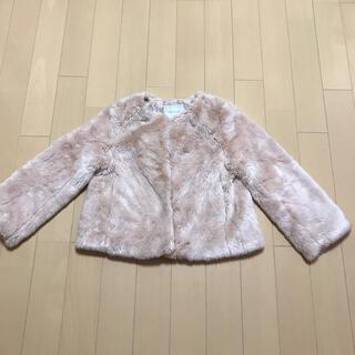 クチュールブローチ(Couture Brooch)のCouture broochのピンクベージュのコート(毛皮/ファーコート)