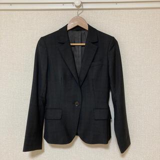 スーツカンパニー(THE SUIT COMPANY)のTHE SUIT COMPANYグレーチェックジャケット38(テーラードジャケット)