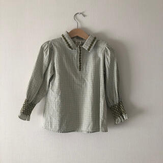 Caramel baby&child  - Apolina  BUFFY' BLOUSE - WORKER CHECK