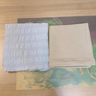 ムジルシリョウヒン(MUJI (無印良品))の無印良品 綿サッカー織 クッションカバー 43cm(クッションカバー)