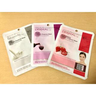 DERMAL コラーゲンエッセンスマスク(パック)3枚セット(パック/フェイスマスク)