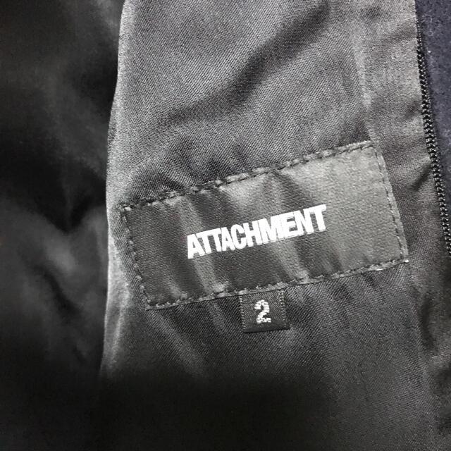 ATTACHIMENT(アタッチメント)のアタッチメント カシミヤタッチ袖レザージャケット2(M)カズユキクマガイ メンズのジャケット/アウター(レザージャケット)の商品写真