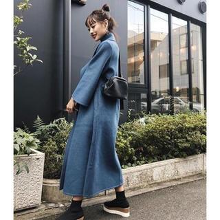 最終お値下げ!⭐️新品 AMAIL Big collar smart coat(ロングコート)
