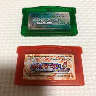 ゲームボーイアドバンス(ゲームボーイアドバンス)のポケットモンスター エメラルド ポケットモンスターファイアレッド(携帯用ゲームソフト)