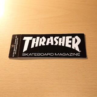 スラッシャー(THRASHER)の【THRASHER】スラッシャー ステッカー ブラック×ホワイトロゴ(スケートボード)