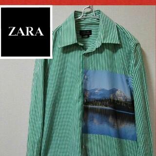 ザラ(ZARA)の激レアZARA MAN シャツ 雪山 ストライプ(シャツ)