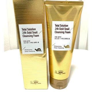 ザセム(the saem)の韓国製 24KゴールドSNAIL 美白クレンジングフォーム(洗顔料)