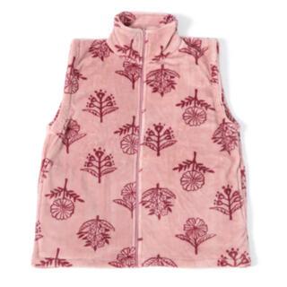 スタディオクリップ(STUDIO CLIP)のルームベスト 着る毛布 レディース  ロンパー 柄アソートルームベスト 北欧柄(ベスト/ジレ)