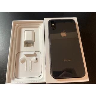 アップル(Apple)の美品 iPhone XS 256GB スペースグレイ(SIMロック解除済)(スマートフォン本体)