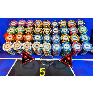 モンテカルロ ポーカーチップ(トランプ/UNO)