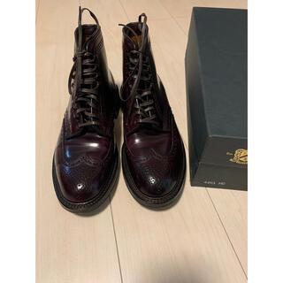オールデン(Alden)のオールデン ALDEN ウィングチップブーツ US7E コードバン バーガンディ(ブーツ)