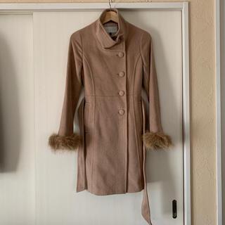 プロポーションボディドレッシング(PROPORTION BODY DRESSING)のproportion body dressingベージュの袖ファーコート(ロングコート)