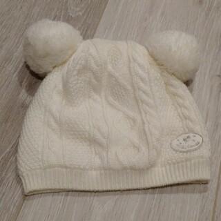 ミキハウス(mikihouse)の美品ミキハウス ベビーニット帽(帽子)
