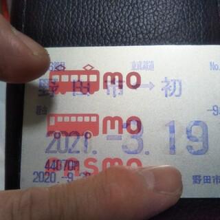 東武鉄道定期券 野田市←→初石(鉄道乗車券)