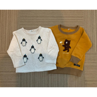 アカチャンホンポ(アカチャンホンポ)の90㎝ トレーナー 動物 ペンギン くま (Tシャツ/カットソー)