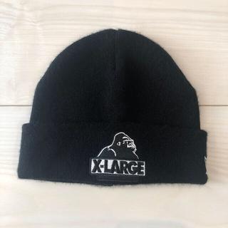 エクストララージ(XLARGE)のエクストララージ×ニューエラ キッズニット帽 ビーニー(帽子)