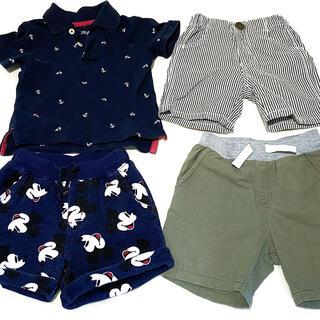 ディズニー(Disney)の子供服 まとめ売り 夏服 短パン ポロシャツ トップス ボトムス 90 男の子(パンツ/スパッツ)